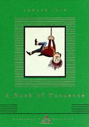 Book  Cover: 'A Book of Nonsense' by Edward Lear