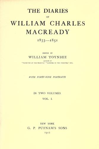 Download The diaries of William Charles Macready, 1833-1851