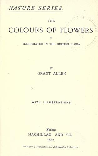 The colours of flowers