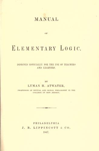 Download Manual of elementary logic.