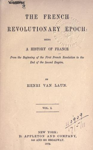 Download The French revolutionary epoch