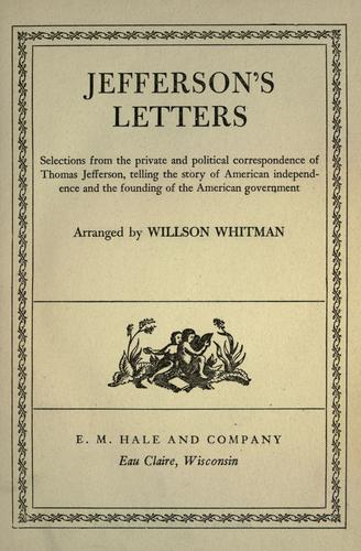 Jeffersons's letters by Thomas Jefferson