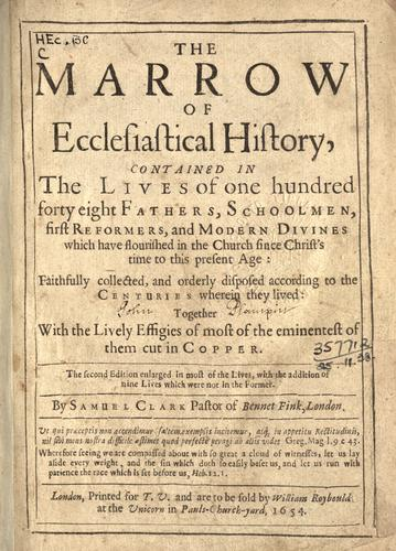 Download The marrow of ecclesiastical history