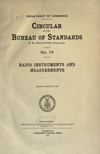 Download Radio instruments and measurements.