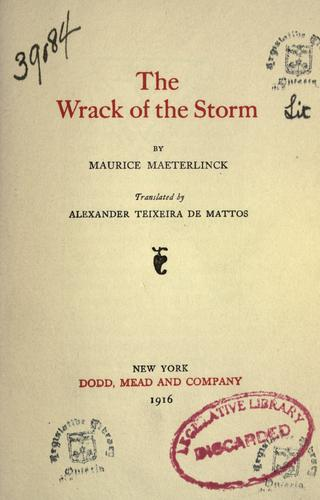 Download The Wrack of the storm