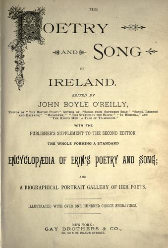 Download The Poetry and song of Ireland
