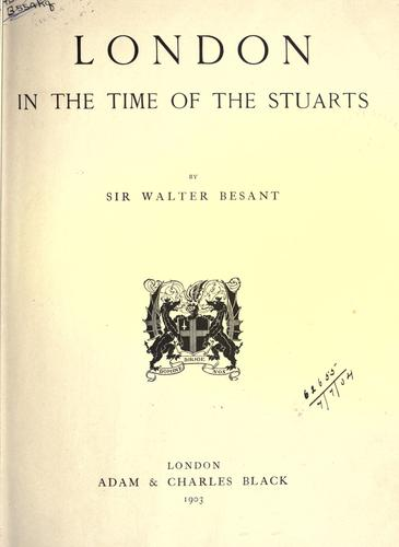 Download London in the time of the Stuarts.