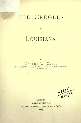 Download The Creoles of Louisiana.