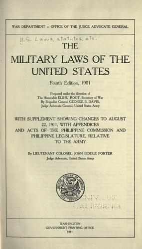The military laws of the United States.