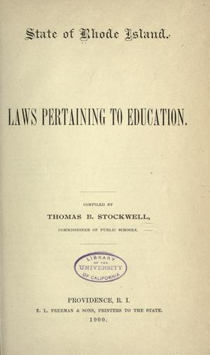 Download Laws pertaining to education.