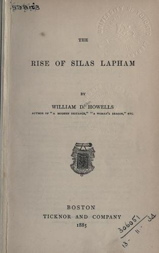 The rise of Silas Lapham.