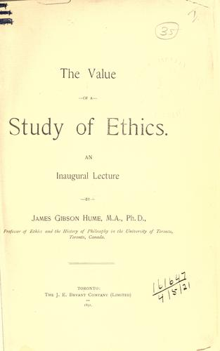 The value of a study of ethics