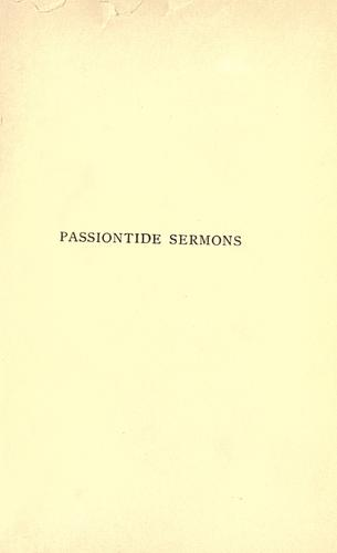 Download Passiontide sermons.