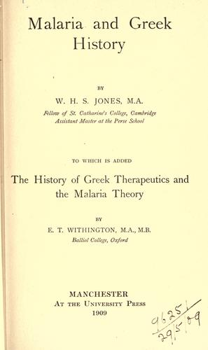 Malaria and Greek history.