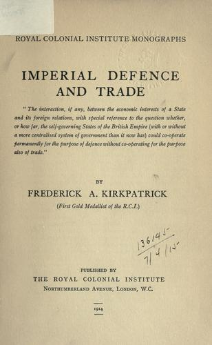 Download Imperial defence and trade.