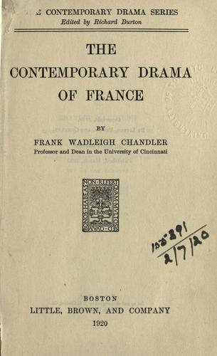 Download The contemporary drama of France.