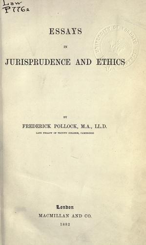 Download Essays in jurisprudence and ethics.