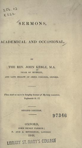 Download Sermons, academical and occasional