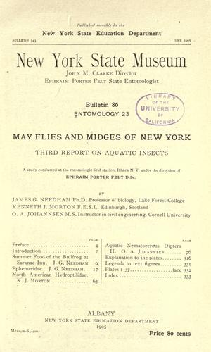 Download May flies and midges of New York.