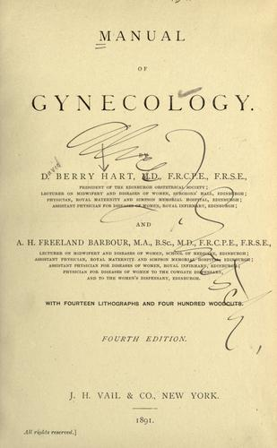 Download Manual of gynecology