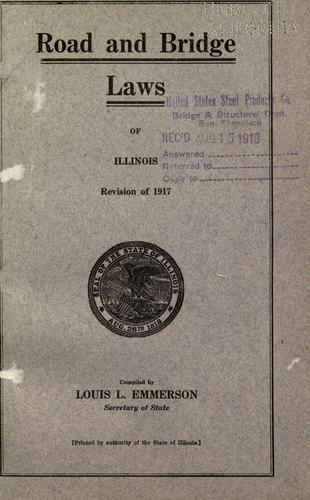 Download Road and bridge laws of Illinois.