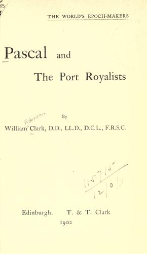 Download Pascal and the Port Royalists