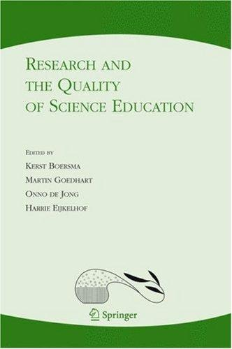 Research and the quality of science education by