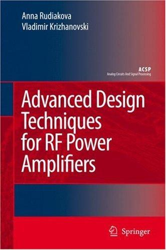 Advanced design techniques for RF power amplifiers by
