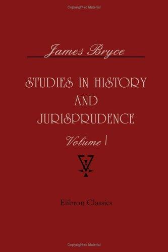 Studies in history and jurisprudence