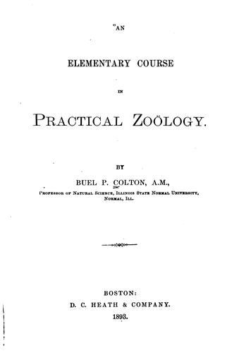 Elementary Course in Practical Zoölogy by Buel Preston Colton