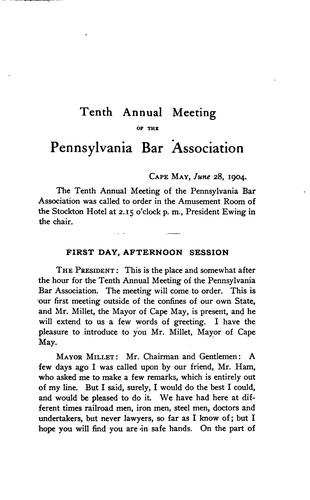 Annual Report of the Pennsylvania Bar Association by Pennsylvania Bar Association