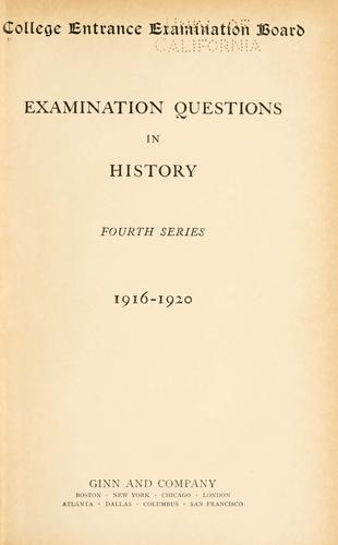 Examination questions in history.