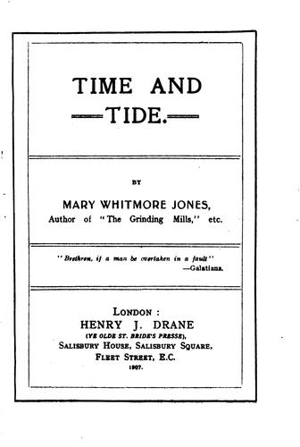 Time and Tide by Mary Whitmore Jones