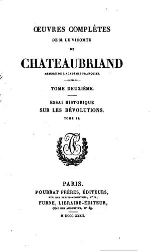 chateaubriand by tome ii