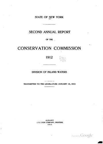 Annual Report by New York (State ). Conservation Dept