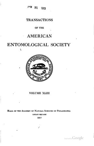 Transactions of the American Entomological Society by American Entomological Society
