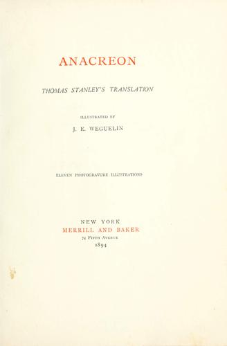 Anacreon by Anacreon