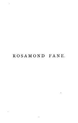 Rosamond Fane; or, The prisoners of St. James's, by M. and C. Lee by Mary Lee