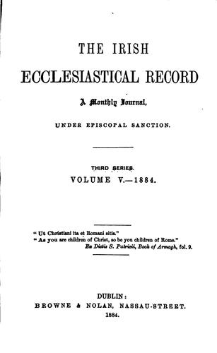 The Irish ecclesiastical record by Irish ecclesiastical record