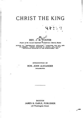 Christ the King by James Mitchell Foster