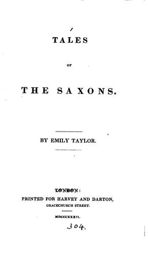Tales of the Saxons by Emily Taylor