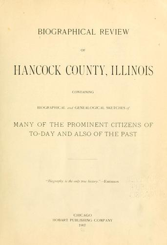 Biographical review of Hancock County, Illinois by