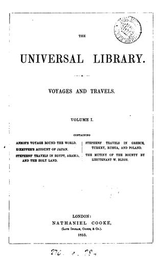 A voyage round the world, in the years 1740, 41, 42, 43, 44 (compiled by R. Walter) by George Anson