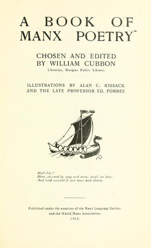 A book of Manx poetry by William Cubbon