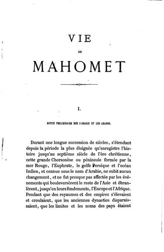 Vie de Mahomet by Washington Irving