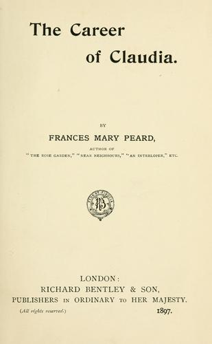 The career of Claudia by Frances Mary Peard