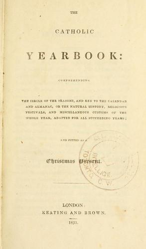 The Catholic yearbook by Thomas Ignatius Maria Forster