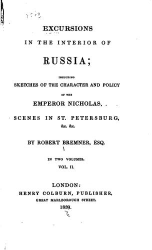 excursions in the interior of russia by robert nicholas