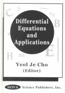 Differential Equations and Applications by International Conference on Mathematical Analysis and Applications (1st : 1998 : Kyongsang Taehak)
