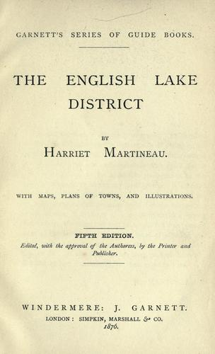 The English lake district by Martineau, Harriet